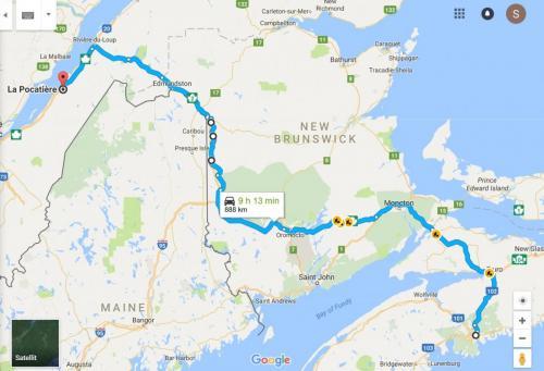 0023aa Karta Halifax - La Pocatiere