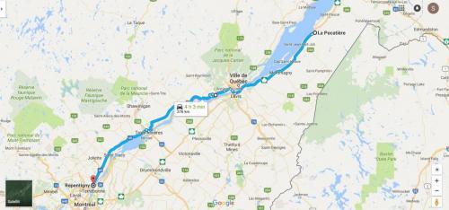 0029al Karta La Pocatiere - Montreal